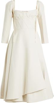 Brock Collection Devin Dress In Linen And Cotton