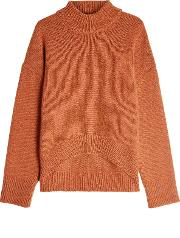 Cashmere Pullover With High Low Hemline