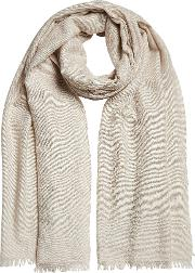 Embellished Scarf In Cashmere And Silk
