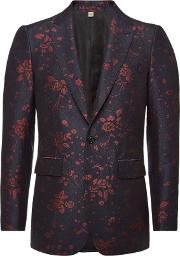 Printed Blazer With Wool And Cotton