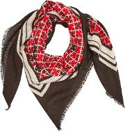 Cornell Printed Wool Scarf
