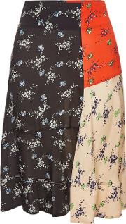 Tahola Printed Skirt With Silk