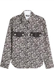 Calvin Klein 205w39nyc Printed Shirt With Embossed Buttons