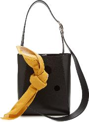 Small Leather Bucket Bag Tote