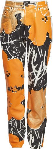 X Andy Warhol Printed Jeans