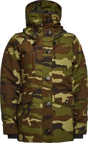 Rideau Printed Down Parka With Cotton