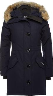 Rossclair Down Parka With Fur Trimmed Hood