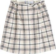 Plaid Skirt With Wool
