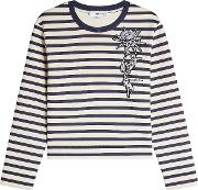 Striped Sweatshirt With Patch