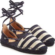 Castaner Kaki Espadrilles With Ankle Ties