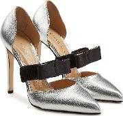 Lily Metallic Leather Pumps