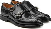 Lana Leather Brogues With Monk Strap