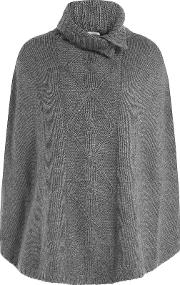 Wool Cape With Cashmere