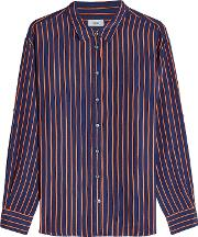 Joan Striped Shirt With Silk