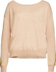 Pullover With Linen And Cotton