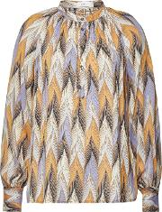 Rosi Printed Blouse With Silk