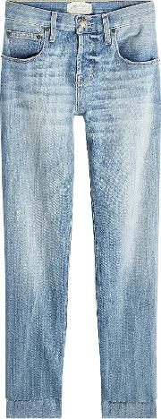 Staggered Straight Jeans