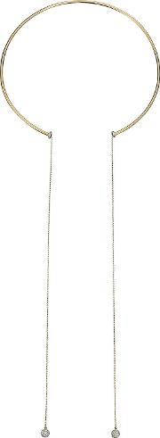 18kt Gold Necklace With White Diamonds