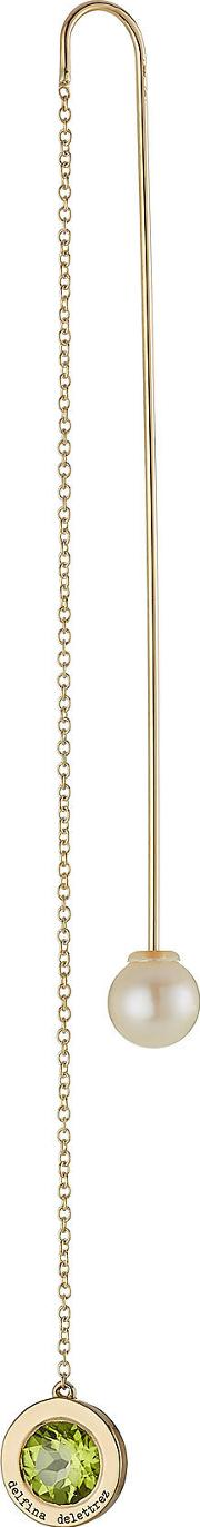 18kt Yellow Gold Fishing For Compliments Earring With Amethyst And Pearl