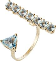 9kt Yellow Gold Ring With Topaz