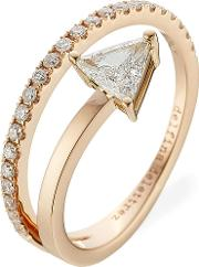 Marry Me 18kt Pink Gold Ring With Diamonds