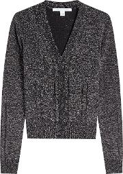 Diane Von Furstenberg Pullover With Merino Wool And Metallic Thread