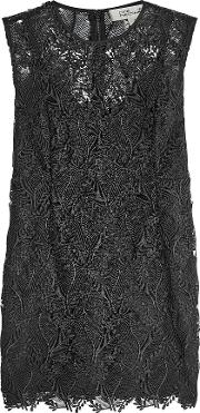 Mini Dress With Lace Overlay
