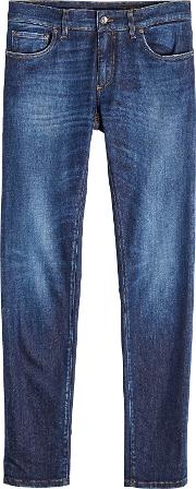 Slim Jeans With Pocket Patch