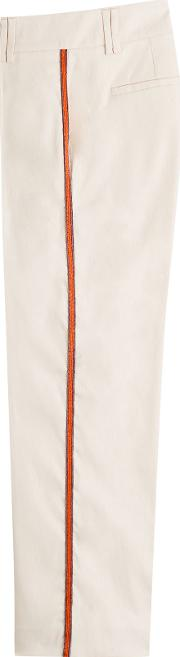 Cotton Pants With Embellished Detail