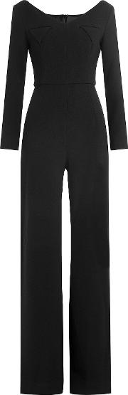 Wide Leg Wool Jumpsuit