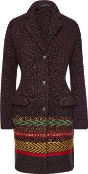 Coat With Wool, Alpaca And Silk