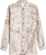 Printed Blouse In Cotton And Silk