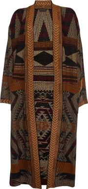Printed Coat With Wool And Cashmere