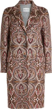Printed Coat With Wool And Mohair
