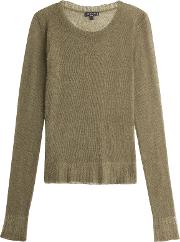 Pullover With Mohair, Wool And Alpaca