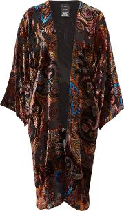 Velvet Poncho With Silk