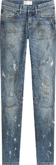 Cropped And Distressed Skinny Jeans