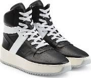 Basketball High Top Leather Sneakers