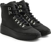 High Top Leather Hiking Sneakers