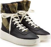 Jungle High Top Sneakers With Leather