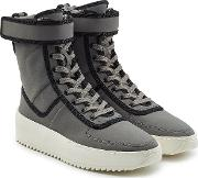 Lace Up Boots With Velcro Strap