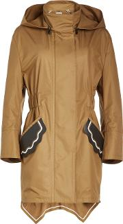 Cotton Trench With Leather Patches