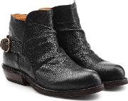 Fiorentini Baker Carol Leather Ankle Boots With Buckles