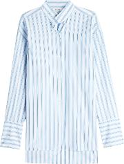 Clean Collared Striped Cotton Shirt