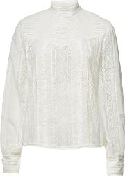 Embroidered Lace Blouse With Cotton