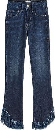 Le Crop Mini Boot Shredded Jeans