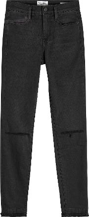 Le High Skinny Double Cropped Jeans