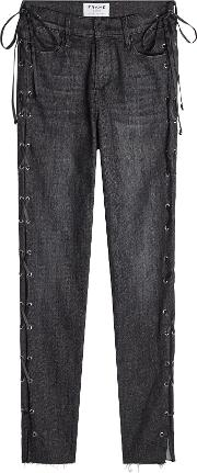 Le High Skinny Jeans With Lace Up Sides