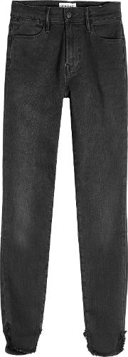 Le High Skinny Petal Cropped Jeans