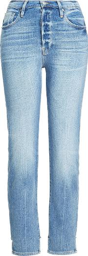 Slim Jeans With Stagger Detail